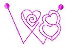 Alfabeto coração - Livre instantâneas projetos de máquinas de bordar