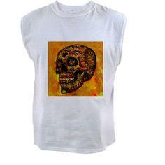 Skull,abstract orange Tank Top > Skull,abstract > MehrFarbeimLeben