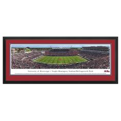 Framed Wall Poster Print NCAA .88 X 44 X 18 Mississippi Rebels, Ole Miss Rebels