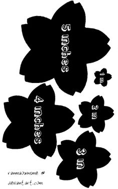 Got tired of looking for a template to use to make hairclips/pincushions/ whatever else I wanted with a sakura theme. You can use these for painting or with fabric, pretty much anything you can thi...