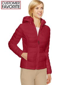 32 Degrees Hooded Packable Down Puffer Jacket