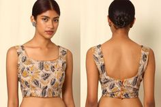 Image result for saree blouse designs sleeveless