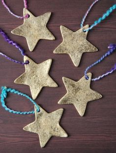 It's time to start singing Christmas carols and pulling out the construction paper for tons of Christmas arts and crafts with the kids! Christmas Tree Decorations For Kids, Christmas Arts And Crafts, Star Decorations, Christmas Time, Holiday Decor, Xmas, Clay Ornaments, Star Ornament, Christmas Ornaments