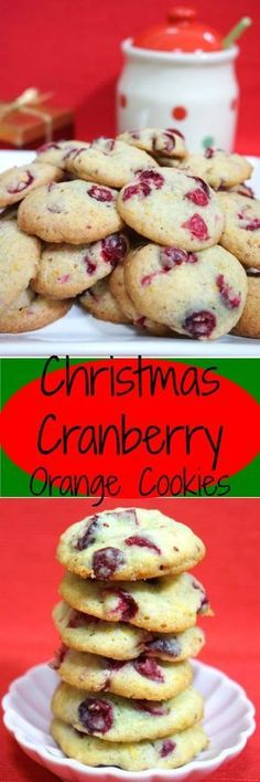 Fresh Cranberry Orange Cookies for Christmas!! Celebrate the Festive season!