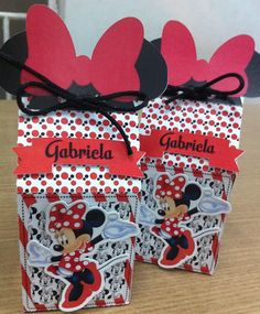 Caixa Milk Minnie vermelha Fiesta Mickey Mouse, Mickey Y Minnie, Minnie Mouse Birthday Decorations, Mickey Birthday, Party Bags, Party Favors, The Duff, Party Supplies, Birthdays