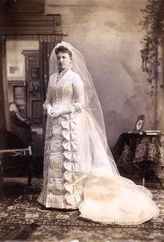 Florence Folger on her wedding day, December 14, 1887, Credit: Nantucket Historical Association via Flickr Commons