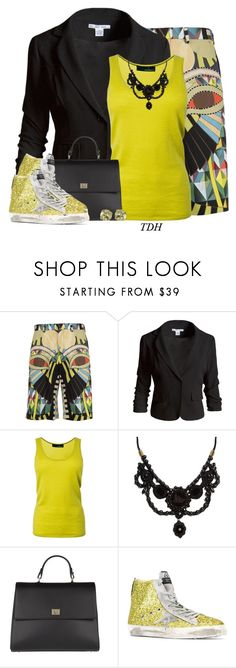 """Printed Bermuda Shorts"" by talvadh ❤ liked on Polyvore featuring Givenchy, Sans Souci, Amanda Wakeley, Gucci, BOSS Hugo Boss, Golden Goose and Glitzy Rocks"