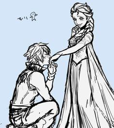 Riku and Elsa.