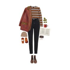 """""""autumn kisses"""" by hetasdfghjkl ❤ liked on Polyvore featuring Monki, Red Wing, Topshop, FrenchTrotters, Toast, Accessorize and Jayson Home"""