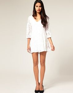lace: I would love a lace dress like this, but sorry i'm not 6ft, so a small fits me like a long dress...I wish a small would mean thin and short on me, not thin and ankle level...