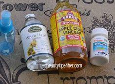 "DIY Aspirin Toner for Acne Prone Skin - Make your Own Natural ""Skin Brightener"" | Look Good Naturally"