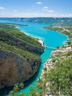 Verdon Gorge, France - http://hiddenunseen.blogspot.com/2013/04/12-amazing-gorges-around-world.html