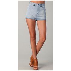 High waisted shorts via Polyvore