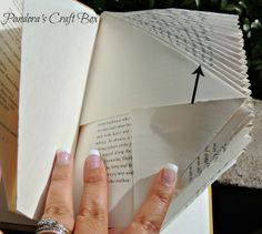 FREE book page folding tutorial