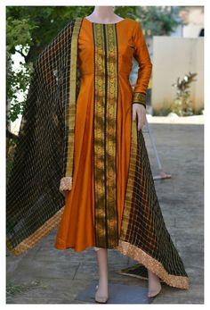 Salwar Designs, Silk Kurti Designs, Kurta Designs Women, Kurti Designs Party Wear, Long Dress Design, Dress Neck Designs, Designs For Dresses, Neckline Designs, Blouse Designs
