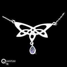 Fairy Wings Celtic Knotwork Necklace w/ Amethyst CZ New | eBay