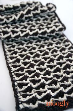 Neptune's Arrow #Crochet Scarf - free pattern on Moogly! :D