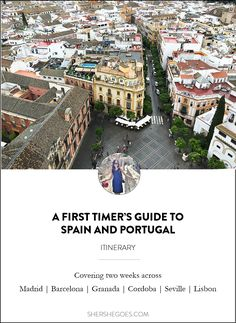 First time visiting Spain and Portugal? You're in luck! Check out this itinerary covering Madrid, Barcelona and Andalusia in Spain as well as Lisbon and Sintra in Portugal on Sher She Goes
