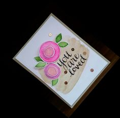 My entry for the #SSSflickrchallenge#16 : a water colored floral card made with Simon Says Stamp's Flower Scribbles and Faber-Castell Gelatos. Sentiment is a Crate Paper rub-on. Sheena Joy - Joy's Studio Creations