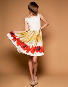 Red Tulips Dress by Mrs Pomeranz