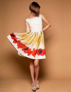 Red Tulips Dress by Mrs Pomeranz