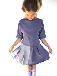 wovenplay :: ice capades dress - navy/silver/green