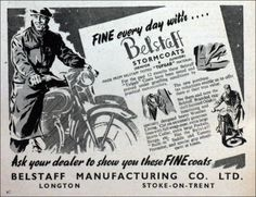 Fine every day with Belstaff - 1952 advert
