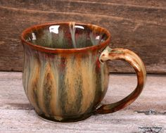 Fall mugs for chilly days!  Custom order from Hurricane Pottery