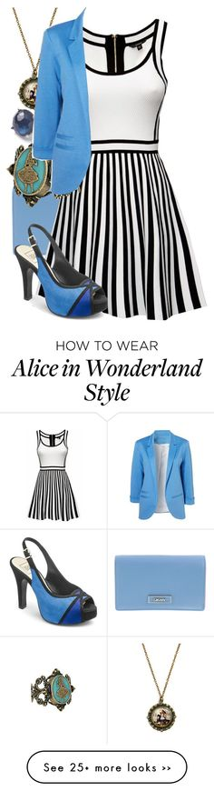 """""""Modern Alice"""" by girlonfire1 on Polyvore featuring DKNY, Ippolita, Disney and modern"""