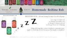 diy bedtime rub using Young Living essential oils