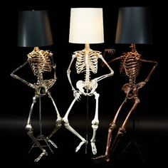 Oh, Them Bones! Life Size Philippe skeleton Lamp by Zia Priven is to Die For!