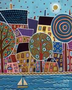 City By The Sea Painting