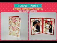 PORTA RETRATO DUPLO EM CARTONAGEM - PARTE 1 - YouTube