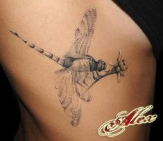 Dragonfly tattoo on back A dragonfly is an ancient insect that has lived on earth for hundreds of millions years. A dragonfly is also a popular tattoos idea for women as they normally look lovely as well as carry rich… Continue Reading → Great Tattoos, Beautiful Tattoos, New Tattoos, Body Art Tattoos, Girl Tattoos, Tattoos For Women, Dragon Tattoos, Sleeve Tattoos, Skull Tattoos