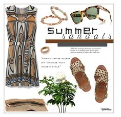"""""""The Cutest Summer Sandals"""" by eyesondesign ❤ liked on Polyvore featuring MANGO, Gucci and H&M"""