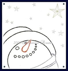 Snowman Christmas Star Paper Embroidery Pattern for by Darse, $1.50