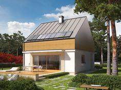 DOM.PL™ - Projekt domu AC E3 ECONOMIC (wersja B) CE - DOM AF2-76 - gotowy projekt domu