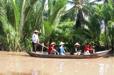 """Small-Group Mekong Delta Day Trip from Ho Chi Minh City Known by Vietnamese as the """"Land of Coconuts"""", Ben Tre is one the best area to explore the untouched and natural landscapes of Mekong Delta and discover its local life, beautiful canals and traditional activities. An authentic and relaxing experience! Depart from Saigon and head straight to Ben Tre (2 hours), crossing the impressive R?ch Mieu suspension bridge. Board a small boat to visit typical workplaces includ..."""
