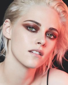 Looking daring in bronze eyeshadow, Kristen Stewart fronts Chanel makeup campaign