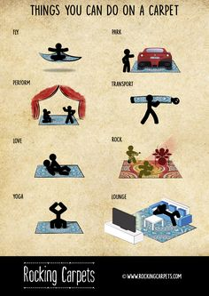 Things you can do on a carpet :-) You Can Do, Carpet, Canning, Rock, Poster, Shopping, New Looks, Home Canning, Locks