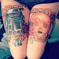 The droids- completed by Mike at Original Sin in central Ohio #starwars #tattoos