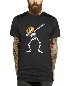 d16440d43 Dabbing Pumpkin Skeleton T-Shirt, Halloween Shirt, Halloween Party Tshirt,  Pumpkin Head, Mens Womens Kids, Halloween Tshirt Child, L319