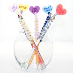 or for ANY DAY Valentine's Day Pencil Toppers - Kids Kubby