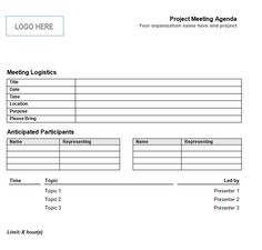 Example Customizable Form Templates Agenda Example Of Meeting