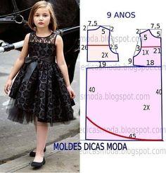 Nowacraft kiz ocuk kolay elbse kaliplari pillowcase dress pattern and size chart Fashion Kids, Fashion Sewing, Little Dresses, Little Girl Dresses, Girls Dresses, Summer Dresses, Costura Fashion, Dress Anak, Baby Dress Patterns