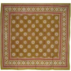 64X90 Sunflower Spiral Gold Tablecloth