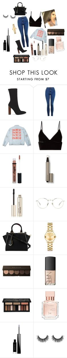 """Slay. PABLO👅"" by bigdxddym ❤ liked on Polyvore featuring Topshop, T By Alexander Wang, NYX, Laura Mercier, Smith & Cult, Linda Farrow, Fendi, Movado, NARS Cosmetics and Kat Von D"
