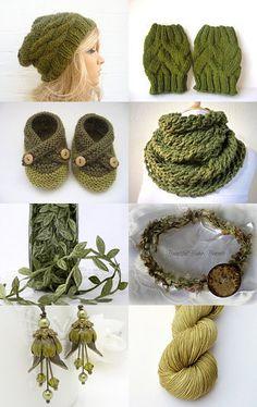Treasury challenge 12 - Shades of green by Mary Johanna Gorman on Etsy--Pinned with TreasuryPin.com