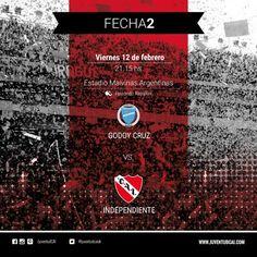 ¡HOY ES VIERNES Y JUEGA EL ROJO! Desde las 21:15, #Independiente se enfrenta a Godoy Cruz en Mendoza. #VamosRojo