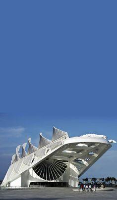 Museum of Tomorrow, Rio de Janeiro, Brazil – design by Santiago Calatrava… Futuristic Architecture, Amazing Architecture, Architecture Details, Most Beautiful Cities, Wonderful Places, Santiago Calatrava, Brazil Travel, South America Travel, Belle Photo